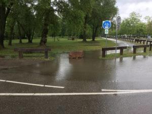 Wege überschwemmt in Souffelweyersheim