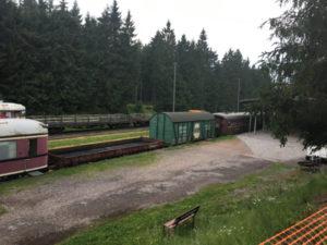Bahnhof Rennsteig Schmiedefeld - Rennsteigradweg & Wald & Eisenbahn-Romantik