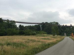 Drachenschwanzbrücke bei Ronneburg - Thüringer Städtekette - Radtour in Thüringen
