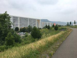 Plattenbauten Jena - ortsausgang Ost