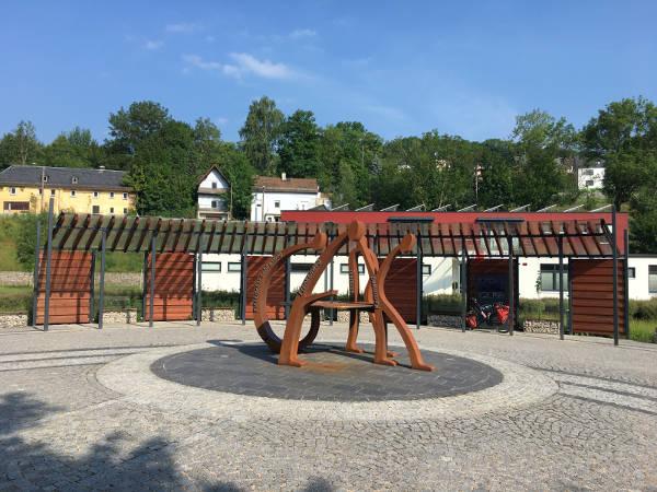 Start Blankenstein - Rennsteig-Radweg