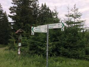 Tambach-Dietharz Wald Fahrrad-Wegweiser Rennsteigradweg