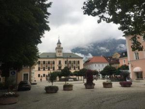 Marktplatz Rathaus Bad Reichenhall - Mozart-Radweg