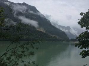 Saalachsee an der Saalach - Bad Reichenhall Schneizelreuth Wolken Berge