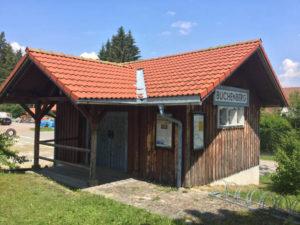 Bahnhof Buchenberg auf dem Allgäu Radweg - Holzhaus