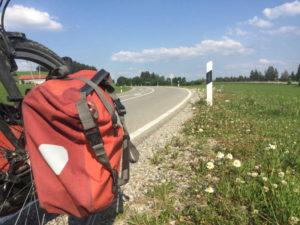 Kempten Betzigau Wildpoldsried Bergauf Allgäu-Radweg Fahrradtasche