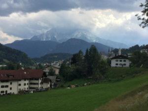 Berchtesgaden Alpen Wolken Berge Mozartradweg