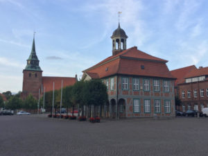 Innenstadt Boizenburg Kirche Mecklenburg-Vorpommern - Elberadweg - Fernradweg Berlin-Hamburg
