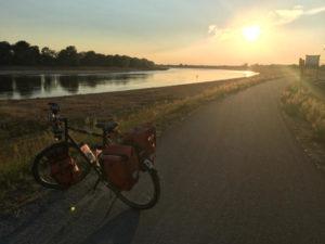 Unterkünfte am Elberadweg - Cumlosen - Sonnenuntergang