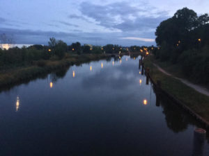 Elbe-Lübeck-Kanal - Lauenburg - Abenddämmerung - Elberadweg - Fernradweg Berlin-Hamburg