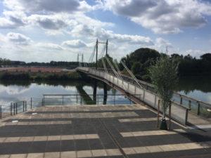 Brücke in Geesthacht - Elbe - Elberadweg