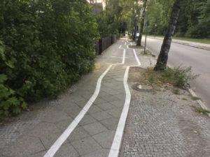 Zick-Zack-Radweg Berlin Leo-Baeck-Straße Zehlendorf