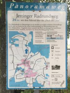 Beschilderung - Wegweiser Jettinger Panoramaradweg - Jettinger Radrundweg - Oberjettingen