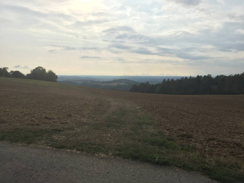 Höhenhöfe Jettingen - Oberjettingen - Jettinger Panoramaradweg - Jettinger Panoramarundweg - Ausblick Schwarzwald