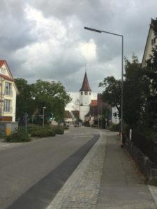 Oberjettingen Innenstadt Kirche - Jettinger Panoramaradweg
