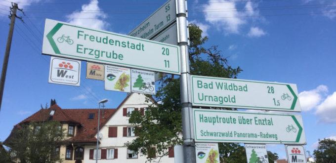 Fahrradwegweiser Nagoldtalradweg