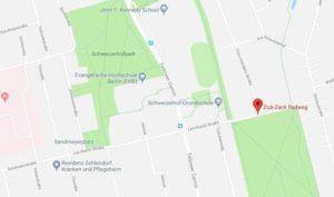 Zick-Zack-Radweg - Google Maps - Berlin-Zehlendorf