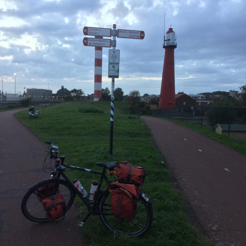 Leuchtturm in Hoek van Holland - Rheinradweg - Nicht auf der Europaradtour