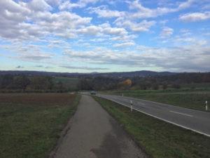 Burgstetten - Backnang - Abfahrt - Stromberg-Murrtal-Radweg