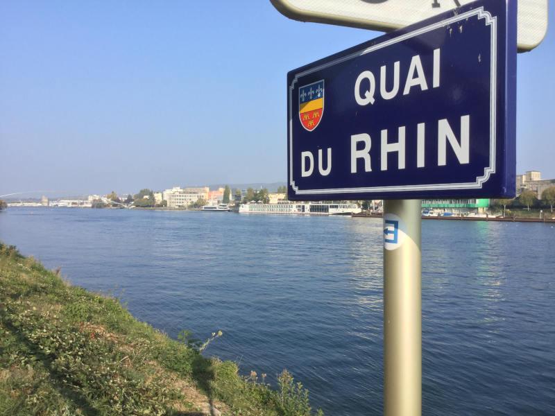 Frankreich - Deutschland - Dreiländerbrücke - Basel Weil am Rhein Huningue - Radreise