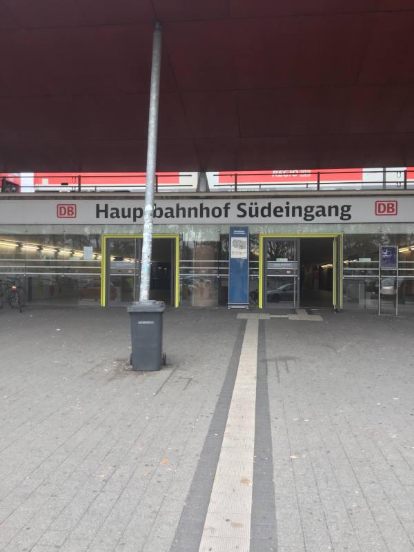Südeingang - Karlsruhe Bahnhof - Stromberg-Murrtal-Radweg