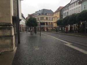 Fahrradverkehr vs. Straßenbahn - Erfurt
