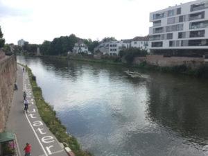 Neu-Ulm Donauradweg - Blick von Ulm