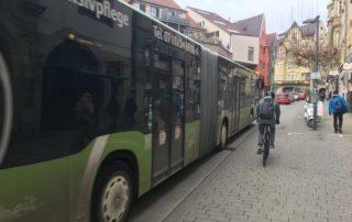 Mühlstraße Tübingen Sicherheitsabstand Radfahrer