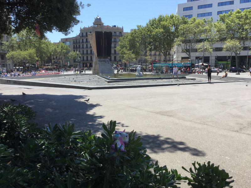 Plaça de Catalunya in Barcelona - Europaradtour