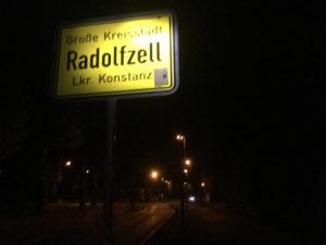 Fahrrad-Unterkünfte in Radolfzell - Ortschild Radolfzell