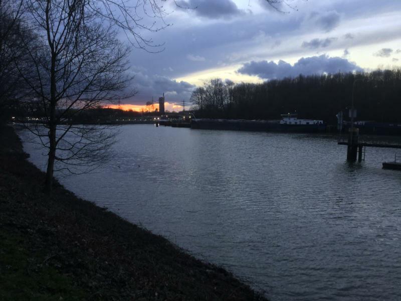 Rhein-Herne-Kanal Gelsenkirchen - Abendansicht