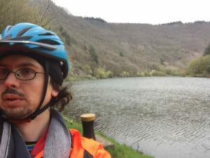 Saar-Schleife - Saarradweg - Fahrradfahrer Markus Vogt