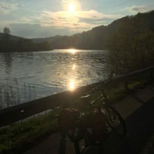 Sonnenuntergang - Serrig - Saarland - Saar-Radweg