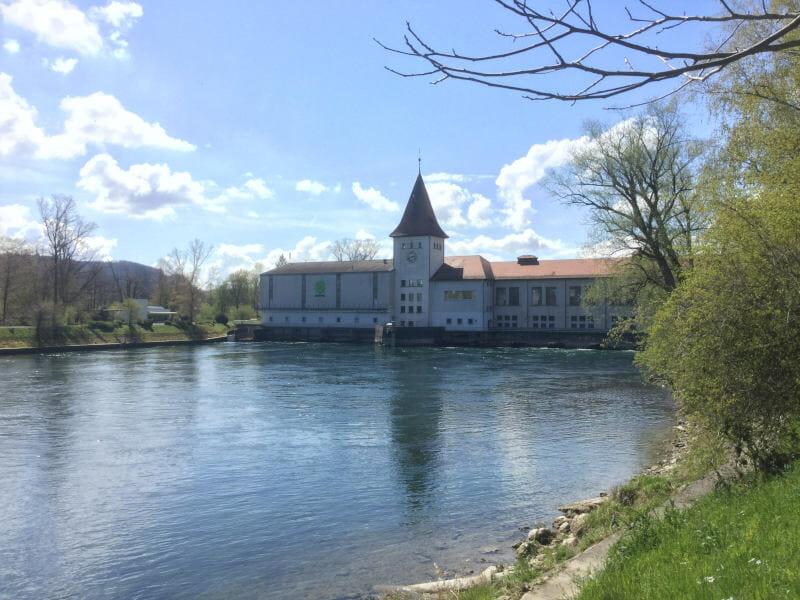 Aarau Elektrizitätswerk - Aare-Radweg