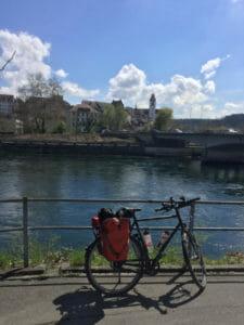 Aare in Aarau mit Fahrrad