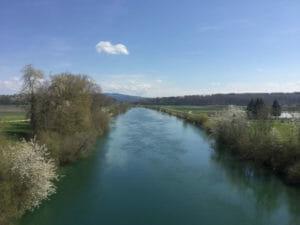 Aare-Radweg nach Bieler See und Kraftwerk Hagneck