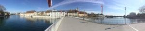 Panoramabild von Solothurn - Aareradweg