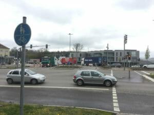 Aare-Radweg - Waldshut-Tiengen - Koblenz - viel Verkehr
