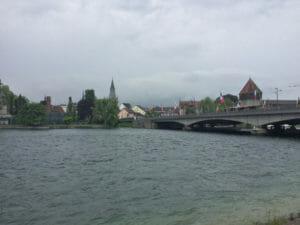 Konstanz-Petershausen - Blick auf die Altstadt - Bodenseeradweg