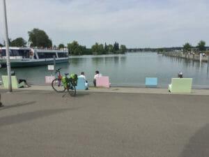 Hafen in Kreuzlingen - Nähe Konstanz - Bodenseeradweg