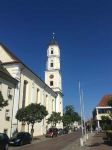 Langenargen - Kirche - Bodenseeradweg