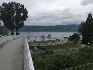 Bogenbrücke Sipplingen Bodenseeblick Radtour