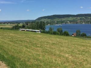 Mammern Eschenz Bodensee - Zug bzw. Bahn - Bodenseeradweg Schweiz - Bodenseeradweg in 50 Kilometer-Etappen