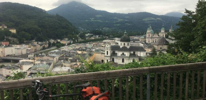 Ausblick - Salzburg - Fahrrad - Alpe-Adria-Radweg