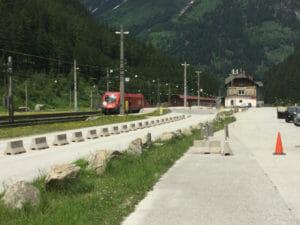 Bahnhof Böckstein - Bahntransfer Alpe-Adria-Radweg - Bahn nach Mallnitz