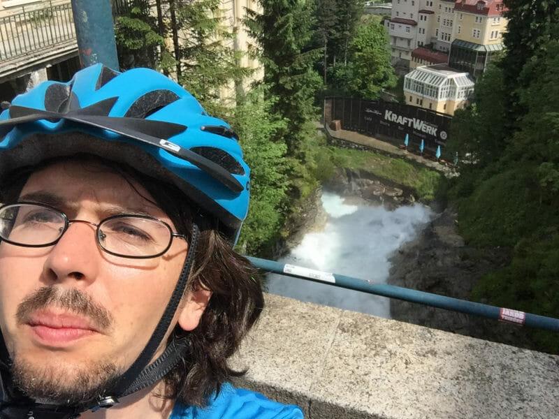 Alpe-Adria-Radweg mit mir - Am Wasserfall in Bad Gastein
