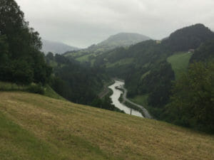Schwarzwach im Pongau - Salzach von oben - Alpe-Adria-Radweg