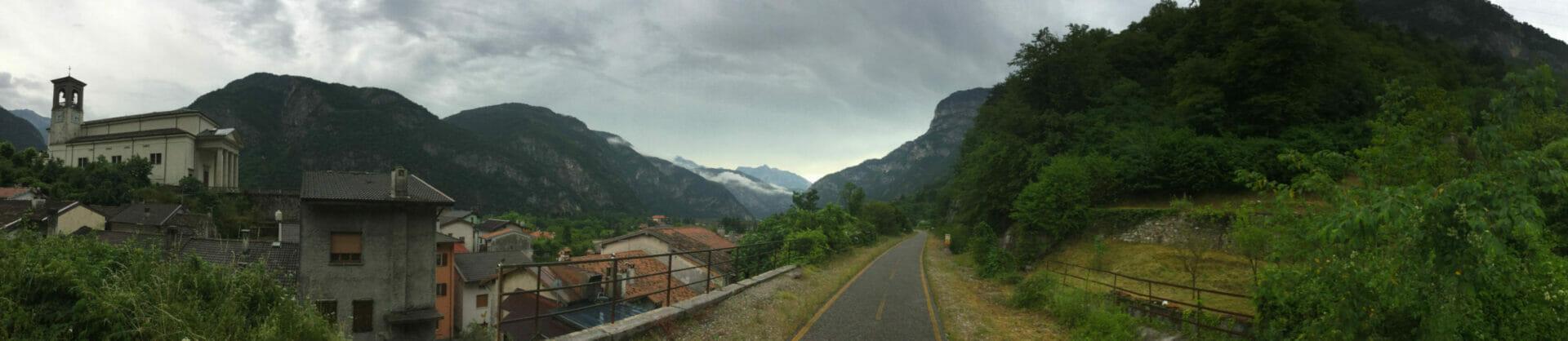 Chiusaforte - Alpenpanorama - Alpe-Adria-Radweg