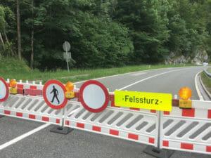 Pass Lueg gesperrt bei Golling an der Salzach