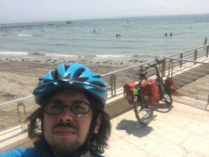 Grado am Strand - Ende Alpe-Adria mit Fahrrad
